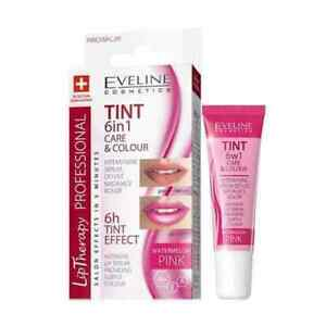 Eveline LIP THERAPY Tint 6in1 Care & Colour Intensive Lip Balm Serum - Pink 12ml