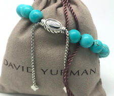 DAVID YURMAN Spiritual Beads Bracelet Turquoise Sterling Silver Adjustable