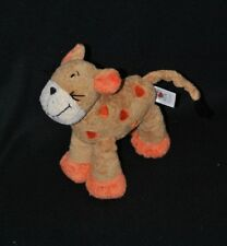 Peluche doudou chat tigre BABY CLUB C&A brun beige orange 19 cm TTBE