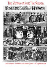 """Jack el Destripador """"Annie Chapman"""" portada de la policía Victoriano titulares de noticias"""