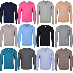 Marks & Spencer Mens Cotton V Neck Jumper New M&S Knitted Sweater Pullover Top