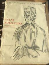 Vintage 1965 Oskar Kokoschka Expressionist Lithograph Poster Self Portrait 39x27