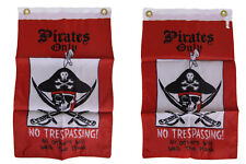 """12x18 Pirates Only No Trespassing 2ply Double Sided 12""""x18"""" Flag"""