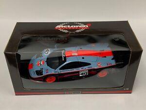 1/18 UT Models McLaren F1 GTR 1997 24 H of Le Mans gulf Car #40 JI154 39726