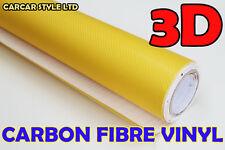 Amarillo 3m X 0,6 m Fibra De Carbono Vinilo 4 Barco Bicicleta Auto Muebles De Cocina