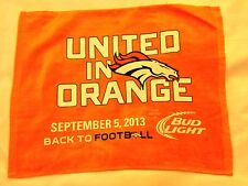 2013 AFC RAVENS @ BRONCOS RALLY TOWEL - PEYTON MANNING 7 TOUCHDOWNS...NFL RECORD