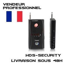 CC308+ DETECTEUR DE SIGNAUX RADIO WIFI GSM HF TRACKER ET CAMERAS MINIATURES SPY