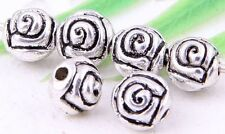 Wholesale 80/170Pcs Tibetan Silver(Lead-Free)Round  Rose Spacer Beads 5mm