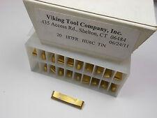 "VIKING Carbide Grooving Inserts .187"" FR HU6C TIN T100329 Qty 20 -7872E1489"