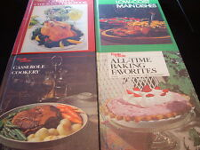 Lot of 4 Vintage Family Circle Cookbooks Chicken Low Cost Baking Casseroles