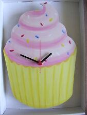 PINK glassa per cupcake Orologio da parete. NUOVO E Inscatolato. CUP CAKE