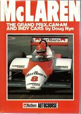 McLaren The Grand Prix, Can-Am and Indy Cars Motor racing book by Doug Nye 1984