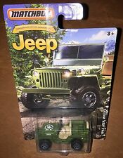 2016 Matchbox 1943 Jeep Willys  Army Military  Detailed   MB4
