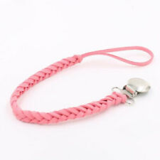 1pc Leather Pacifier Chain Infant Newborn Anti-drop Pacifier Holder Baby Feeding