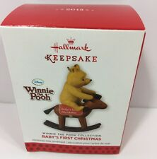 Hallmark Keepsake Disney Winnie The Pooh Babys First Christmas Tree Ornament NIB