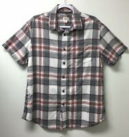 Mossimo Button Up Shirt Mens LG Multicolor Plaid Short Sleeve Casual