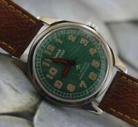 Vintage HMT Military 17Jewels Winding Wrist Watch For Men's Wear W-8628
