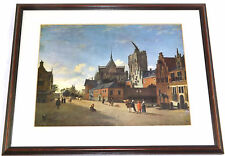 A View In Cologne - Jan Van Der Heyden - Wall Art Print Picture Framed Glazed