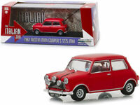 "1967 AUSTIN MINI COOPER S 1275 MKI RED ""THE ITALIAN JOB"" 1/43 GREENLIGHT NEW"