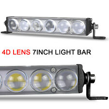7inch 18W 4D LED Light Bar Work Spot Fog Offroad Driving Truck 4WD SUV ATV Lamps