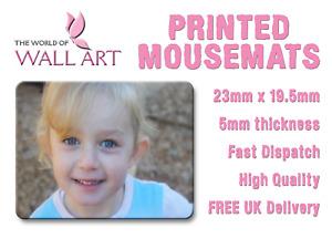 PERSONALISED Printed Mousemat, Any Image, Any Text, Full Colour, Personalised