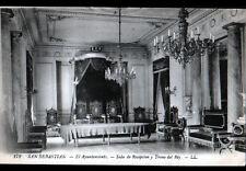 SAN SEBASTIAN (ESPAGNE) TRONE du ROI / TRONO del REY début 1900