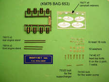 POCHER KM76 1/8 BUGATTI ENGINE ASSEMBLY & EXTRA DETAILING CD