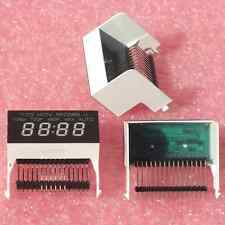 3× GREEN LED CLOCK DISPLAY 7 SEGMENT 4×11mm DIGITS + 9 INDICATORS CA 50×25×32mm†