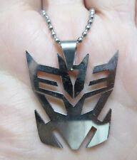 Transformers Decepticon Stainless Steel Pendant Necklace