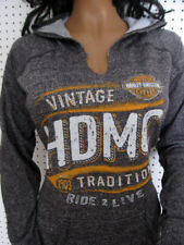S nwt HARLEY DAVIDSON *Marled Charcoal* P/O French Terry Hoodie Shirt