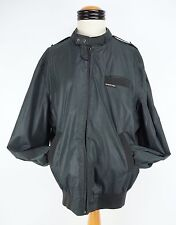 Vintage Mens Members Only 70's Polyester Muted Green Cafe Racer Jacket 44 Long
