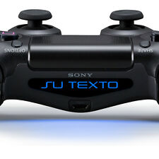 2X Playstation PS4 Pegatina vinilo texto nombre personalizada light bar mando