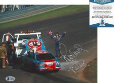 RICHARD PETTY KING NASCAR RACING SIGNED CRASH 8x10 PHOTO KING BECKETT COA BAS