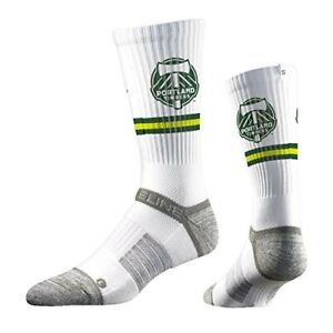 PORTLAND TIMBERS - MLS PREMIUM OFFICIALLY LICENSED CREW SOCKS - White ONE SIZE