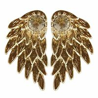 Plated Silver Angel New Party Inlaid Rhinestone Alloy Wings Earrings