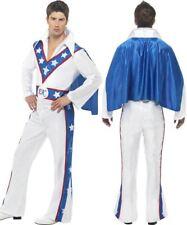 "Smiffys Evel Knievel Costume - Male - White - Chest 38""-40"", Leg Inseam 32.75"""