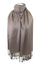 Marron Chocolat Écharpe Pashmina Châle Étole Enveloppante Hijab 100% Viscose