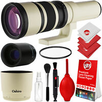 Oshiro 500mm/1000mm Telephoto Lens for Nikon D7200 D7100 D5500 D5300 D3400