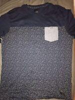 O'Neil Men NWOT Size Large Navy Blue Pocket T Shirt Tee W Design