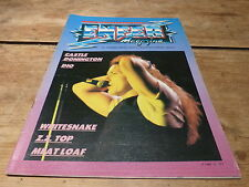 WHITESNAKE - ZZ TOP - DIO - CASTLE - MEAT LOAF  - Enfer magazine N°5 de 1983