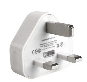 Mains Wall 3 Pin USB Plug Adaptor Charger Power USB Ports for iPhone Samsung UK