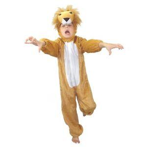 KINDER LÖWE KOSTÜM Karneval Fasching Tier Plüschkostüm Junge Mädchen Katze Tiger