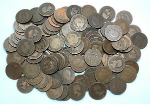 France 3 Republic Lot X115 Napoleon III Antique 10 Centimes Copper Coins #N1