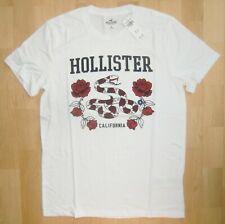 Hollister California T-Shirt Weiß Gr. M (Konfektion 48) Rundhals *NEU*