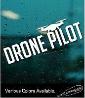 Drone FAA Pilot Round DJI Yuneec Syma Mavic Truck Sticker Decal