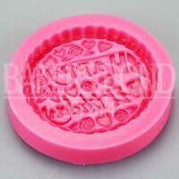 Happy Birthday Cake Topper Fondant Silicone Mould Baking Bakeware Icing Embosser