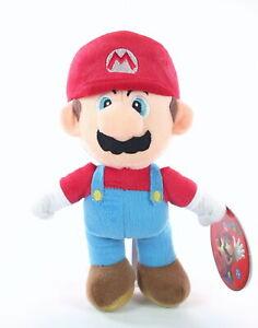 "SUPER MARIO BROTHERS plush MARIO 10"" soft cuddly toy bros Nintendo - NEW!"