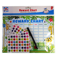 Childrens Reward Chart Good Behaviour 6 Star Sticker Sheets and Black Pen Charts