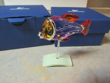 Swarovski 626205 Camaret Fuchsia Rain Crystal Tropical Fish W/Box