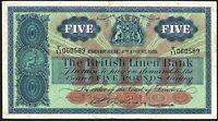 1959 BRITISH LINEN BANK £5 BANKNOTE * Y/11 060589 * gF-gF+ *